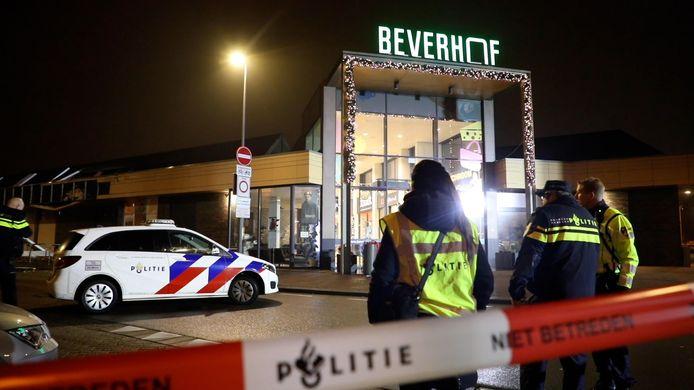 Het winkelcentrum waar de explosie afgelopen nacht plaatsvond.