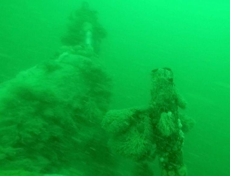 Het wrak van de duikboot die voor onze kust werd ontdekt. Beeld REUTERS