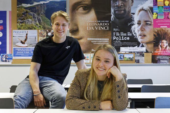 Noah van der Leeuw en Eva Kammeren.