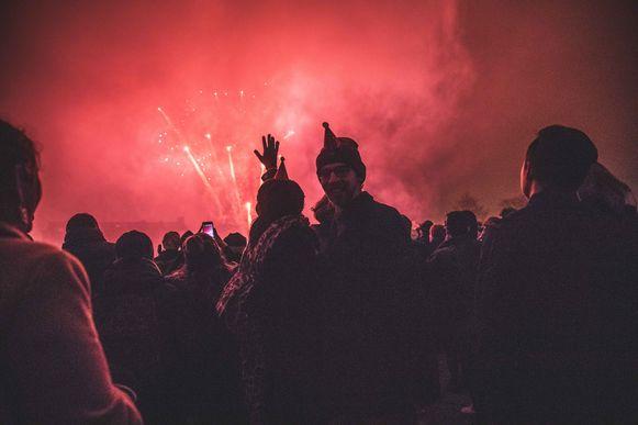 Vuurwerk in Gent bij de start van het nieuwe jaar.