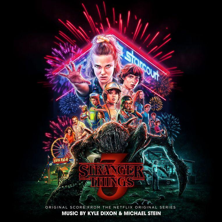 Coverart van de soundtrack van 'Stranger Things - Season 3'. Beeld Netflix