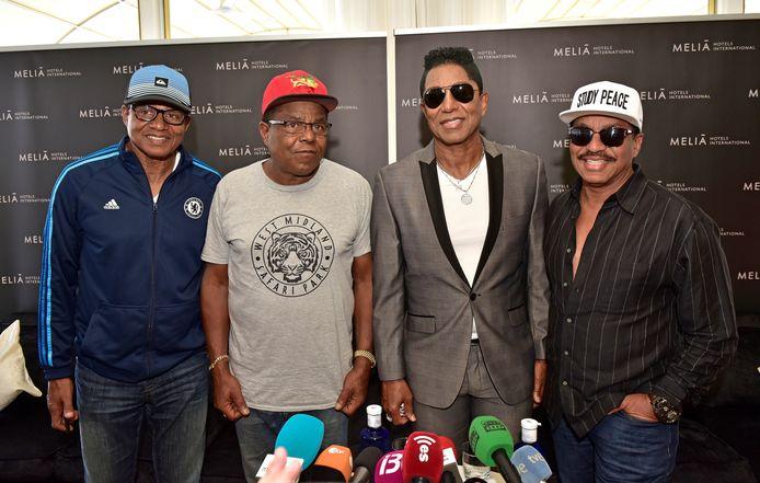 'The Jacksons': Jackie Jackson, Tito Jackson, Jermaine Jackson en Marlon Jackson.