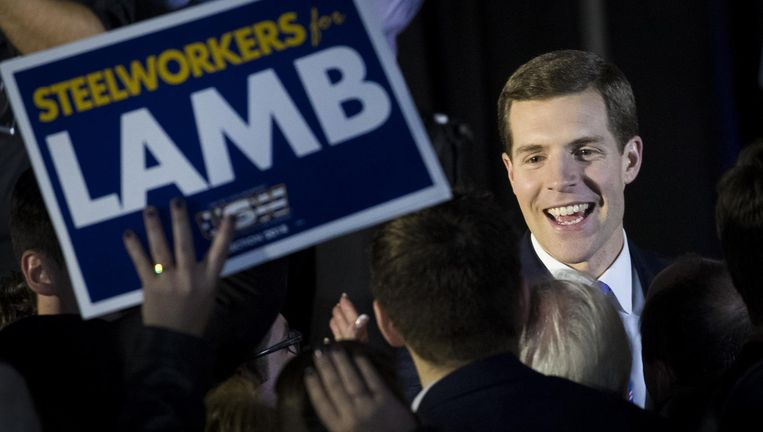 De Democraat Conor Lamb. Beeld AFP