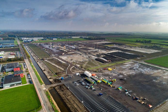 Bouw distributiecentrum modereus Inditex op Lelystad Airport Business Park (LAB)Zeventig voetbalvelden. (35 hectare) Zo groot wordt het distributiecentrum van de Spaanse modereus Inditex (van oa Zara) bij Lelystad.