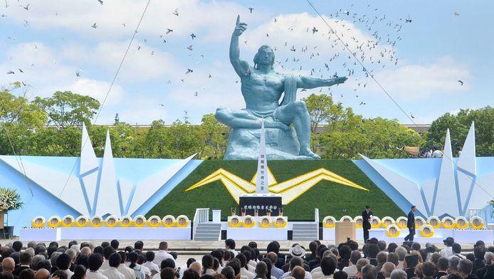 Gisteren werd ook in Nagasaki de 68ste verjaardag herdacht in het Peace Momorial Park.