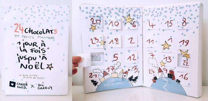 Prototype du calendrier de l'Avent de Mélanie et Emi.