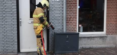Klein brandje op Markt in Boxtel snel geblust