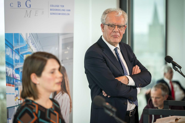 CBG-voorzitter Ton de Boer: 'We hebben gezamenlijk besloten nu maar even de pauzeknop in te drukken.' Beeld ANP