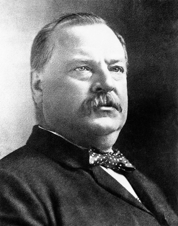 Grover Cleveland (1837-1908) was the 22nd and 24th president of the United States.  He is the only US president to date to have two consecutive terms.