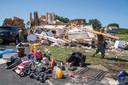 Een tornado hield lelijk huis in Mullica Hill (New Jersey).