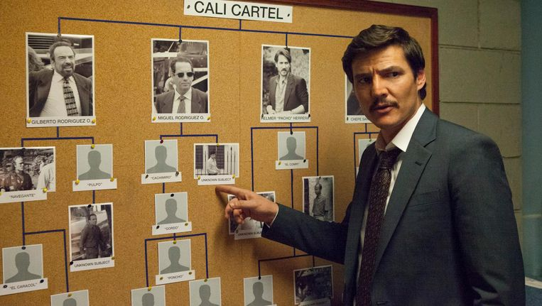 Agent Javier Peña (Pedro Pascal) ontpopt zich tot crimefighter Beeld Netflix