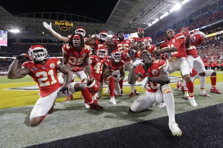 De Kansas City Chiefs wonnen gisteren de Super Bowl. Beeld Photo News