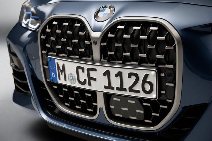 De opvallende grille van de nieuwe BMW 4-serie.