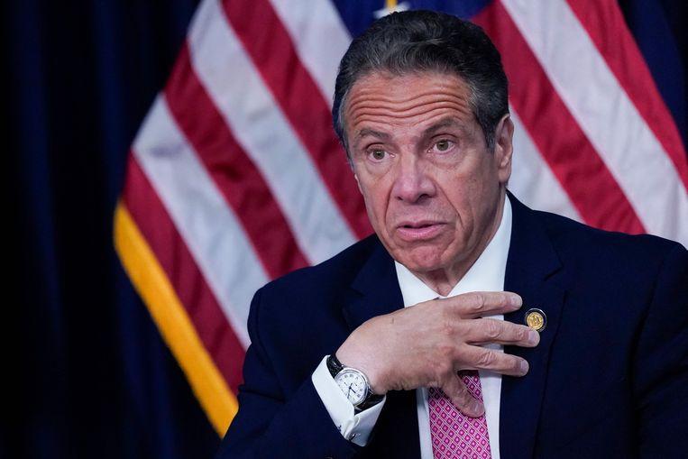 Andrew Cuomo, de gouverneur van New York. Beeld AFP