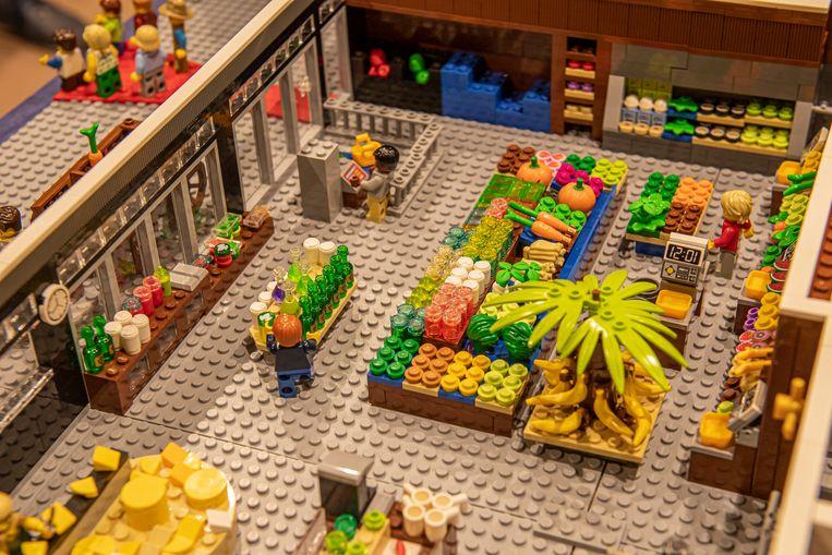 De afdeling groenten en fruit van Huis Vanassche in detail.