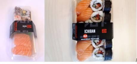 Des sushis vendus en supermarchés rappelés pour une présence éventuelle de morceaux de verre