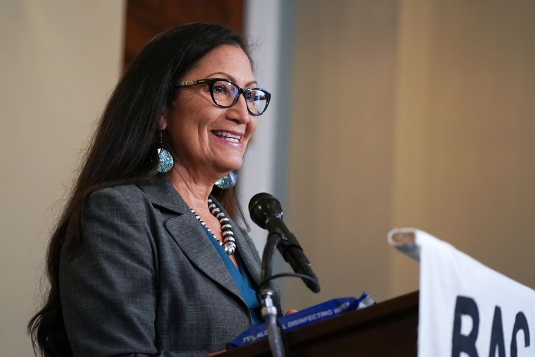 Deb Haaland Beeld Getty Images for Green New Deal