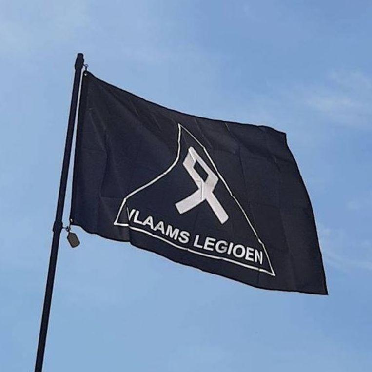Vlag van het Vlaams Legioen, de extreem-rechtse groep waartoe Jürgen Conings behoort Beeld RV