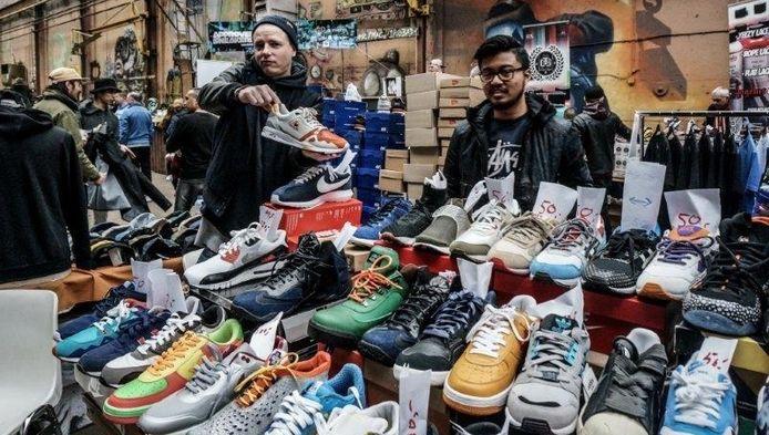 De populaire sneakermarkt eerder dit jaar in Amsterdam.