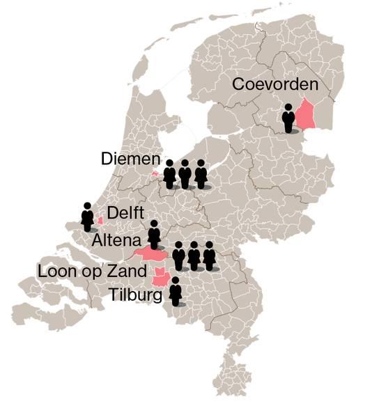 Aantal gevallen in Nederland tot nu toe. Bron: RIVM