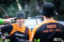 Steve Wijler toonde zich op de openingsdag van de EK in Turkije net iets sterker dan teamgenoot Sjef van den Berg.