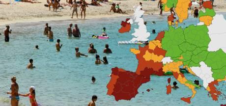 Plusieurs zones d'Italie, de Grèce et de France passent au rouge sur la carte européenne