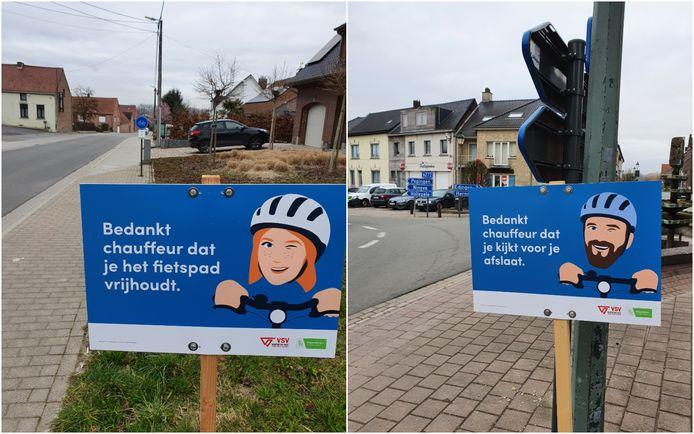 In totaal staan er 20 campagneborden op zorgvuldig gekozen locaties verspreid over Galmaarden.