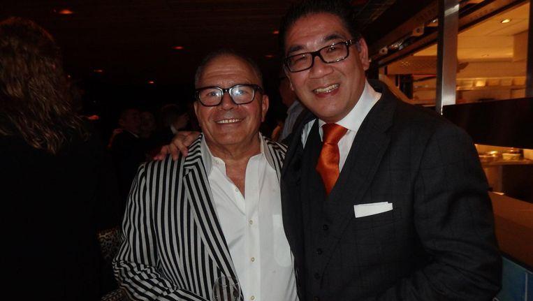 Shimon Bokovza, wereldwijd baas van SushiSamba, en horecatycoon Won Yip, partner in Amsterdam Beeld Schuim