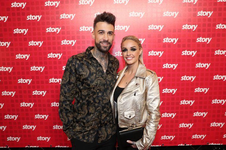 Fabrizio en Pommeline op de Story Showbizz Awards.