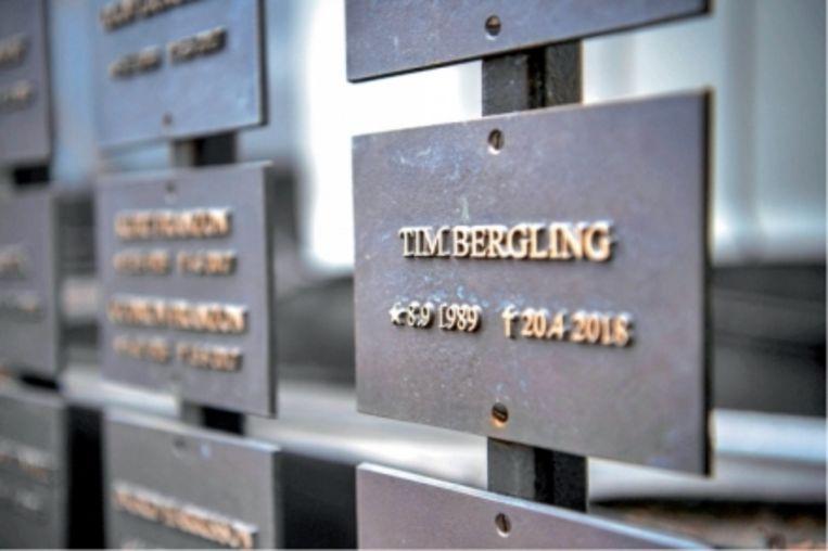 'De herdenkingsplaque voor Bergling. De precieze begraafplaats is niet aangegeven, om de privacy en de rust te garanderen. 'Dat is helemaal Tim' Beeld