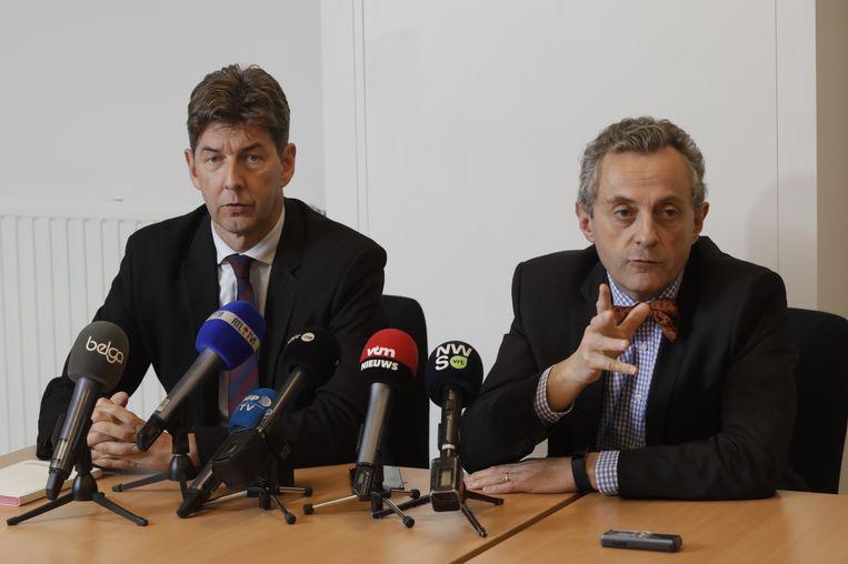 Procureurs-generaal Ignacio de la Serna en Christian de Valkeneer. Beeld BELGA