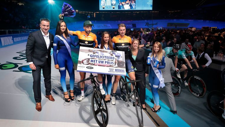 Winnaars Roger Kluge en Christian Grasmann. Beeld Photo News