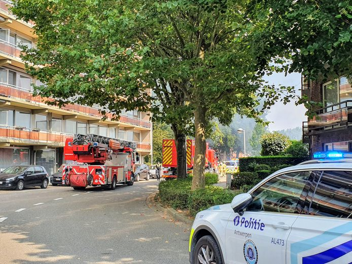 Zware brand in de Jagersstraat.