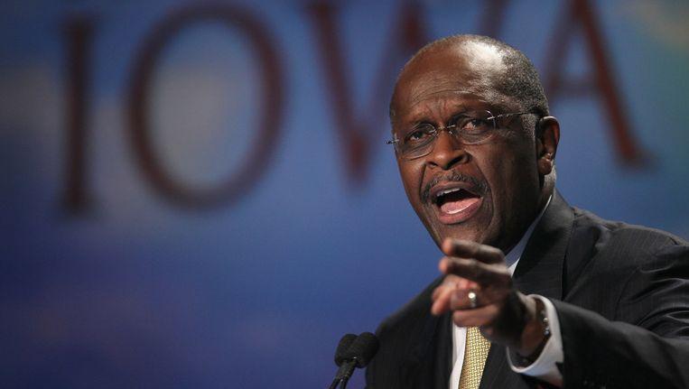 De Republikeinse presidentskandidaat en zakenman Herman Cain. Beeld afp