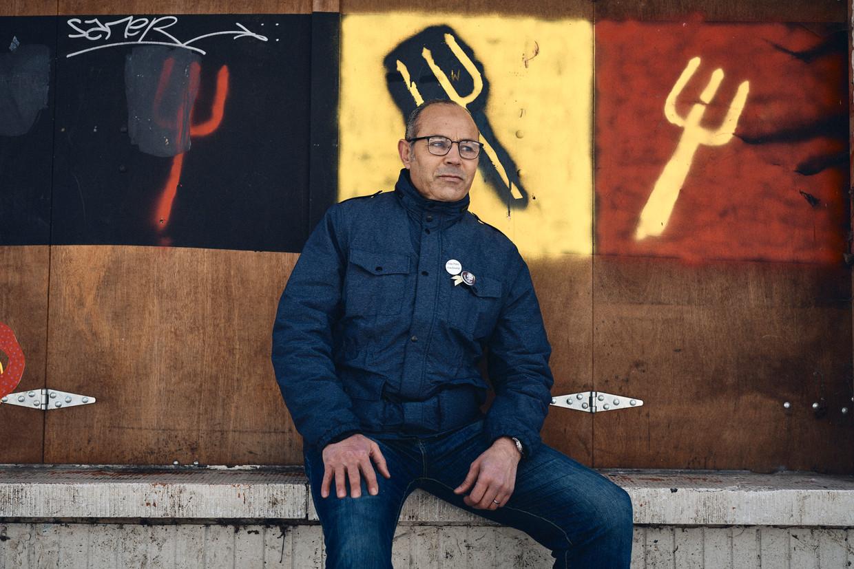 Ali Aarrass in Brussel: 'Ik was een pionnetje op een diplomatiek schaakbord.' Beeld Thomas Nolf