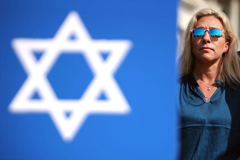Marjorie Taylor Green roept op om Israël te steunen in het Israëlisch-Palestijns conflict. Beeld van eerder deze maand. Beeld AFP