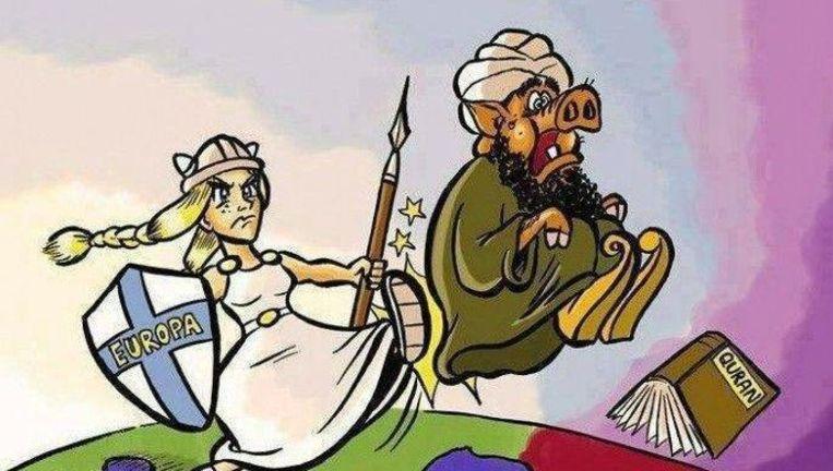 Screenshot van de 'Uitzwaaidag Islam'-Facebookpagina Beeld Facebook