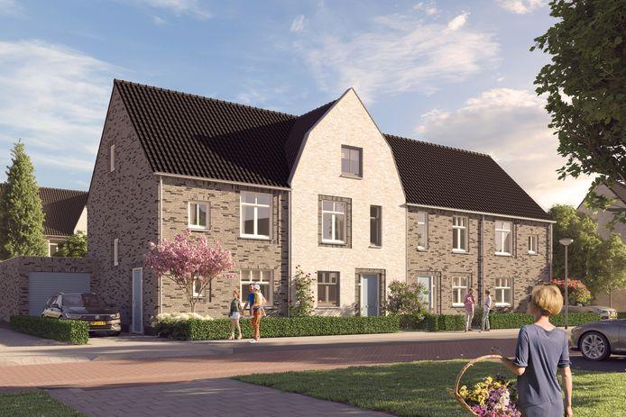 Nieuwbouwwijk Hofstede in Rucphen.