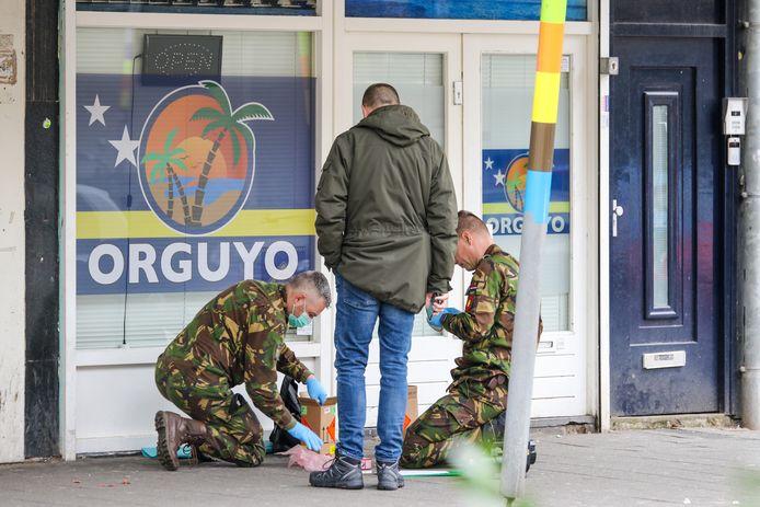 De Explosieven Opruimingsdienst (EOD) heeft de handgranaat veiliggesteld.