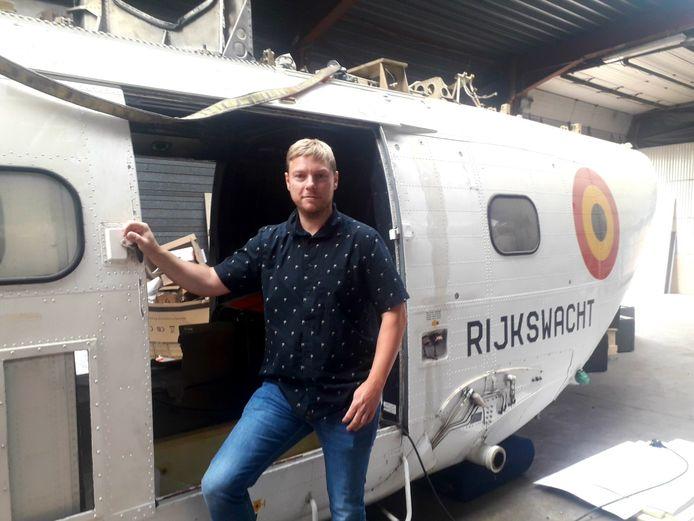 Kristof Van Loy liet de Puma-Rijkswachthelikopter overkomen vanuit Zweden naar Herenthout