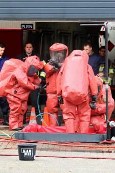 Brandweer verlaat kantoor in Rozenburg