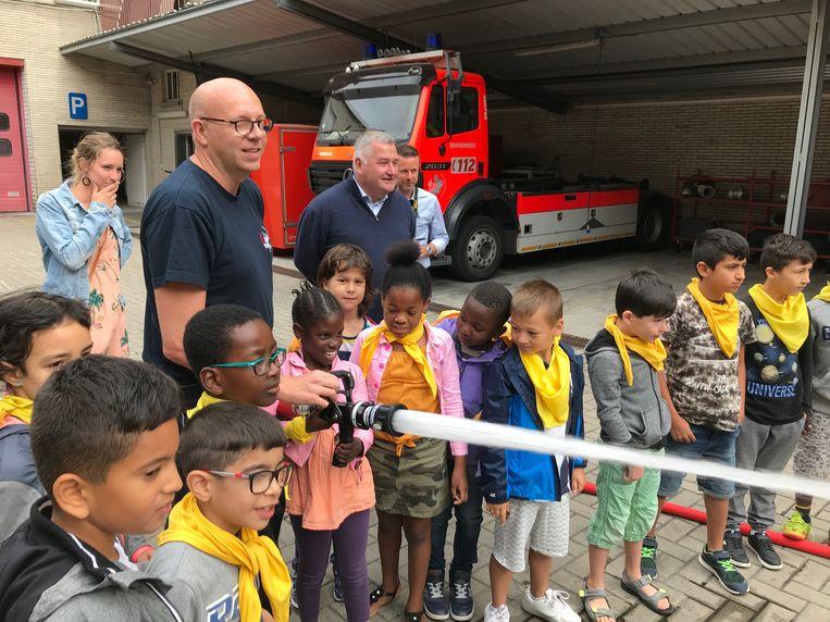 Op bezoek bij de brandweer met Taalbubbels.