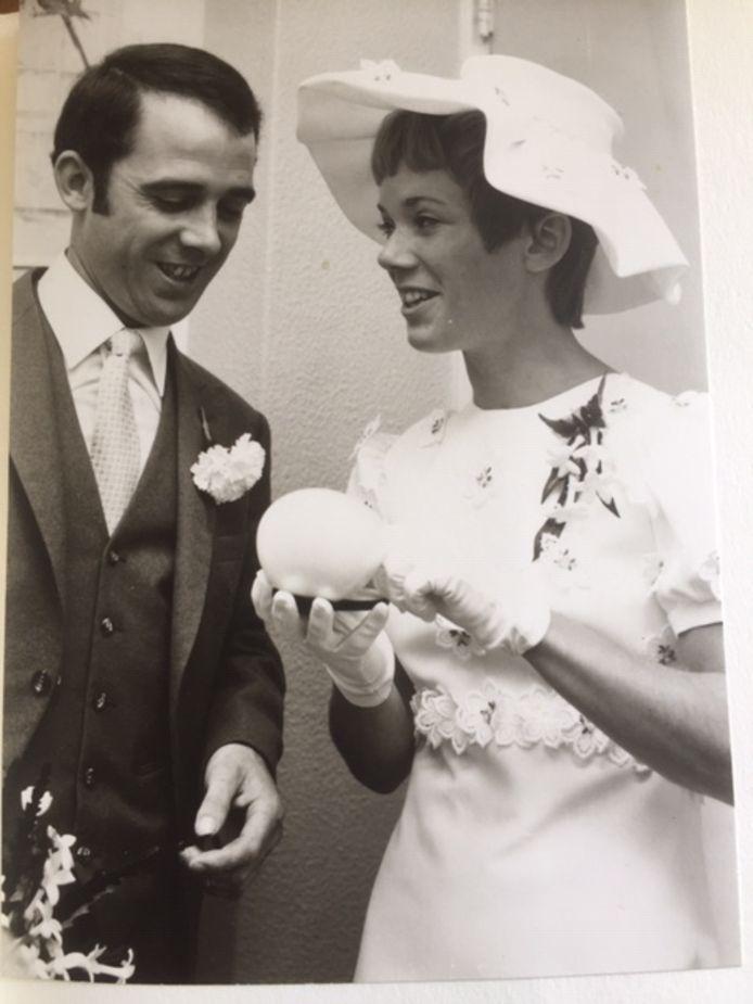 Echtpaar Harrie en Beppie de Groot op 18-06-1971