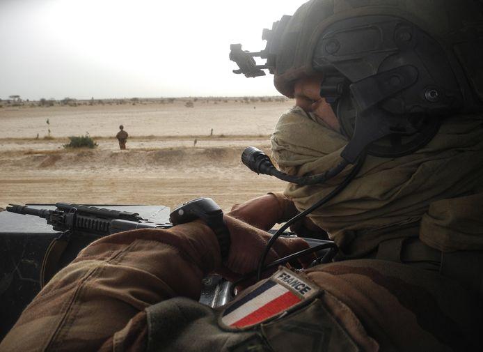 Een Franse soldaat in Mali.