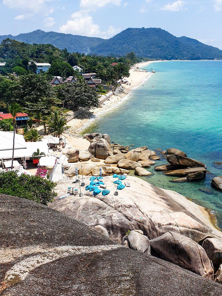De kustlijn van Koh Samui. Beeld null
