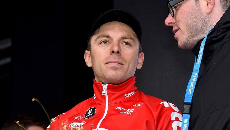 Kris Boeckmans staakte vroegtijdig de parcoursverkenning van de Ronde van Vlaanderen. Beeld Tim De Waele
