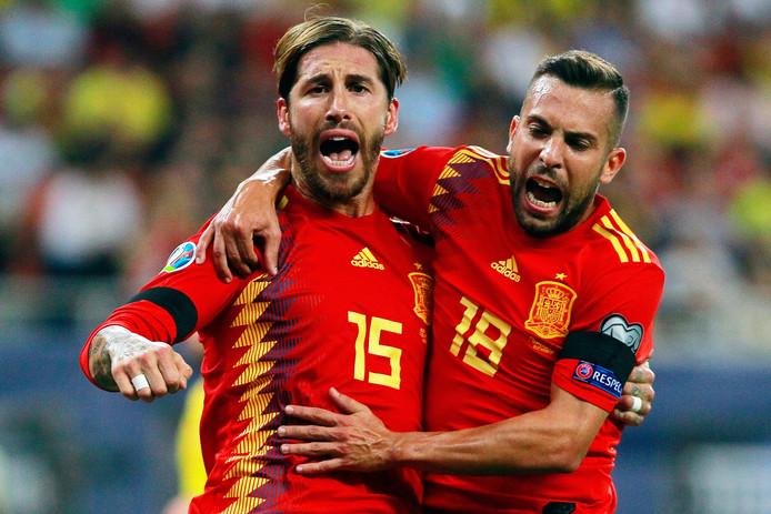La joie de Sergio Ramos après son but