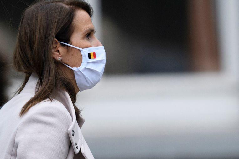 Minister van Buitenlandse Zaken Sophie Wilmès zette de kwestie op de agenda bij het Internationaal Strafhof. Beeld Photo News