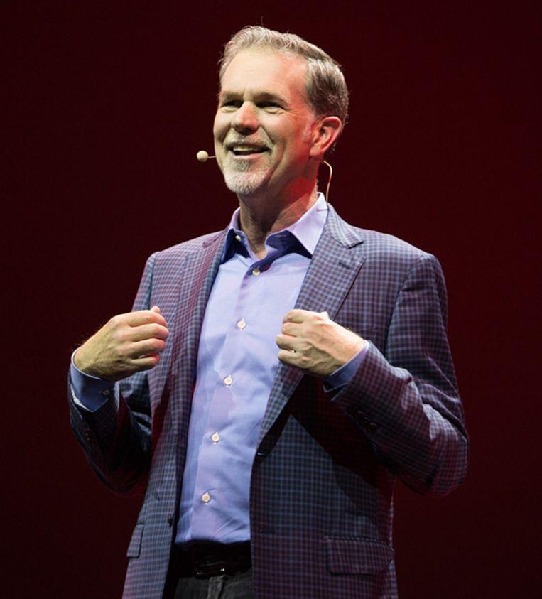 Netflix-CEO Reed Hastings deed zijn ambitieuze plannen uit de doeken. Beeld Netflix