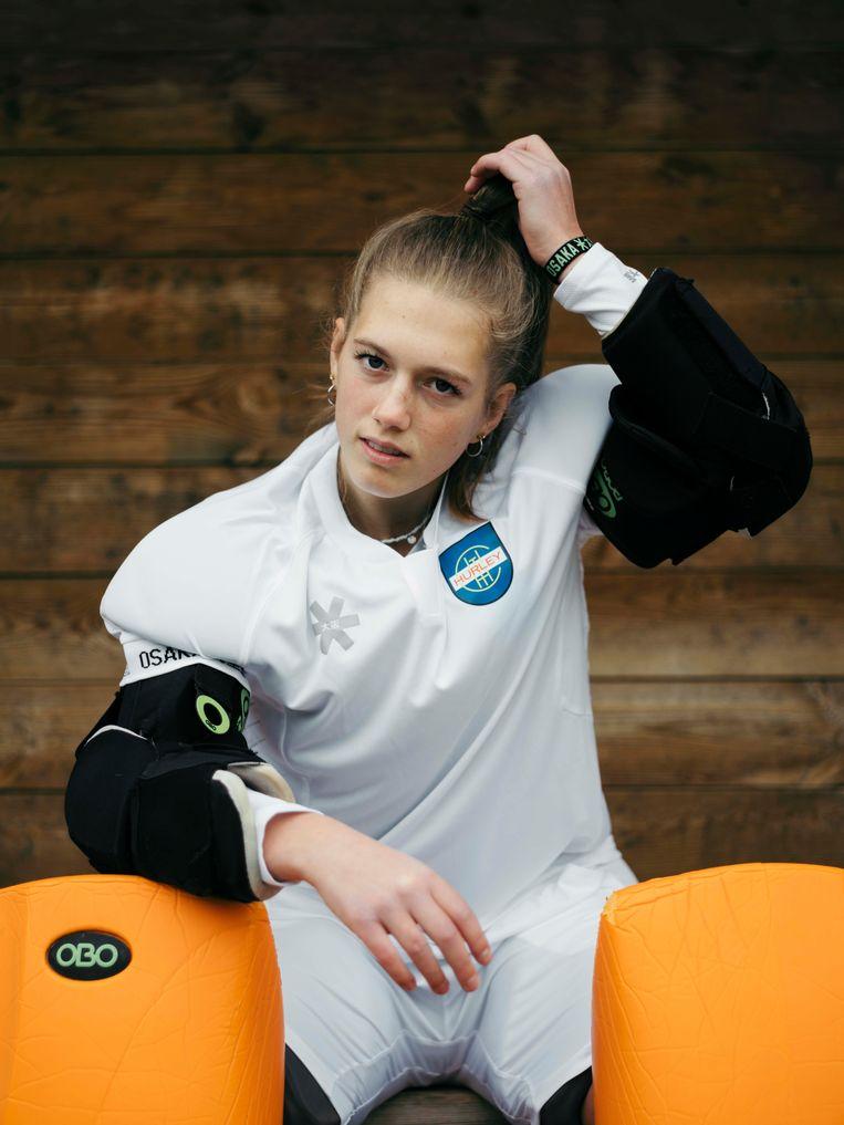 Fleur Hofman, hockey Beeld Nienke Veneboer
